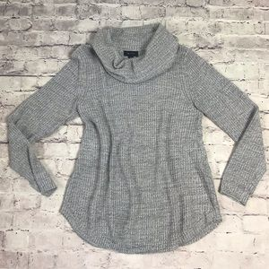 Variegated Grey Cowl Neck Sweater XL